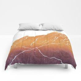Colorado Mountain Ranges_Boulder Flat Irons Comforters