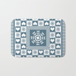 Winter Snowflake Christmas Pattern Bath Mat