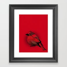 Little Red Bird Framed Art Print