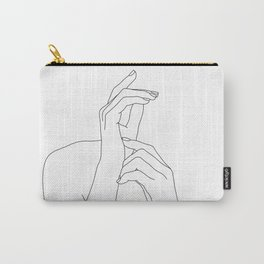 Hands line drawing illustration - Eva Carry-All Pouch