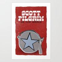 scott pilgrim Art Prints featuring Scott Pilgrim VS The World by Bill Pyle