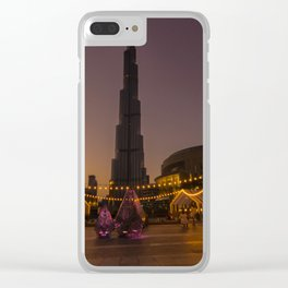 Burj Khalifa sunset Clear iPhone Case