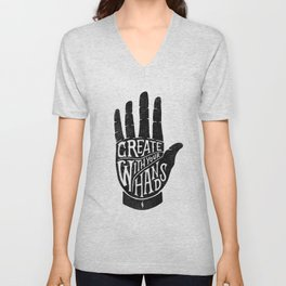 CREATE WITH YOUR HANDS Unisex V-Neck