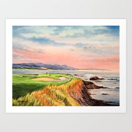 Pebble Beach Golf Course Hole 7 Art Print