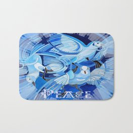 Celtic Peace Dove Greeting Card  Bath Mat