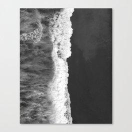 The Sea (Black and White) Canvas Print