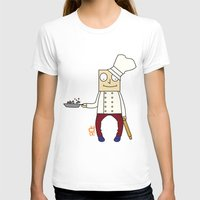 chef T-shirts featuring THE CHEF!! by Riot Clothing
