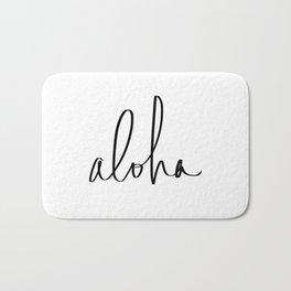 Aloha Hawaii Typography Bath Mat