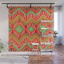 itzel - candy + lime Wall Mural