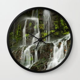 Ho Opi'i Waterfall  Wall Clock