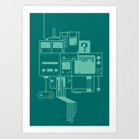 video games Art Prints featuring Video Games by Isra