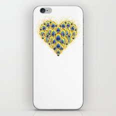 Peacock Heart iPhone & iPod Skin
