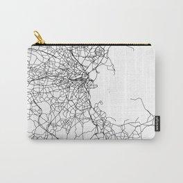 Boston Massachusetts Street Map Minimal Carry-All Pouch