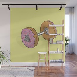 Donut Dumbbell Wall Mural
