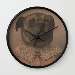 Vintage Sophisticated Dog Illustration (1878) Wall Clock