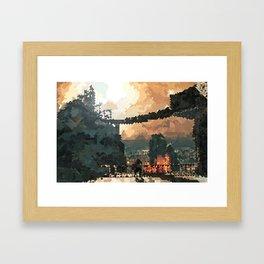 Brume Tower Framed Art Print