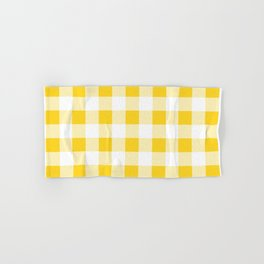 Yellow and White Buffalo Check Hand & Bath Towel