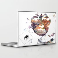 no face Laptop & iPad Skins featuring Face by Laake-Photos
