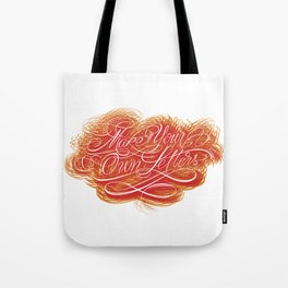 Make Your Own Letters Tote Bag