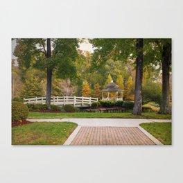 Gazebo In Autumn Canvas Print