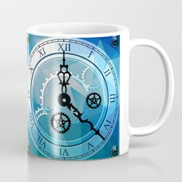 Blue Clock Coffee Mug
