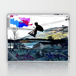 Let's Scoot! - Stunt Scooter at Skate Park Laptop & iPad Skin