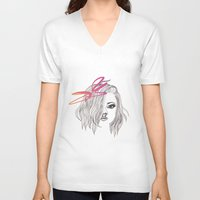bow V-neck T-shirts featuring Bow by spllinter