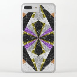 Marble Geometric Background G441 Clear iPhone Case