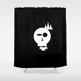 Faded Grey Skull Shower Curtain