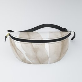 Beige tropical leaves Fanny Pack