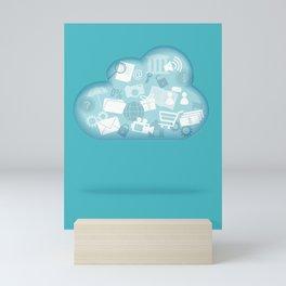 cloud technology Mini Art Print