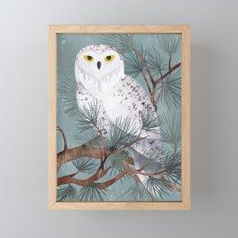 Snowy Framed Mini Art Print