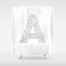 A strings Shower Curtain