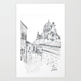 Cathedral of St. James in Sibenik Art Print