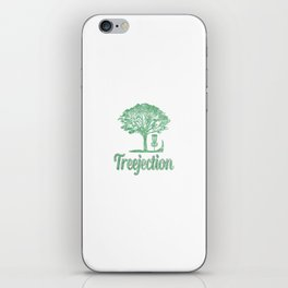 Treejection Funny Disc Golf Distressed iPhone Skin