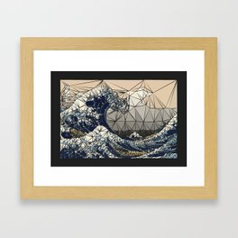 Lowpoly - The great wave of K Framed Art Print