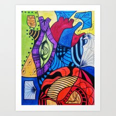 Rompecabezas de Corazon Art Print