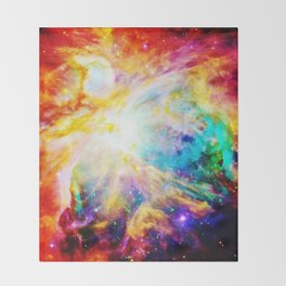 Orion nEbula : Bright & Colorful Throw Blanket