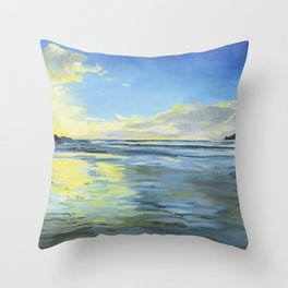 Sunset at Smugglers Cove 2017 Throw Pillow