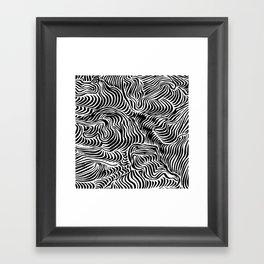 black flow Framed Art Print