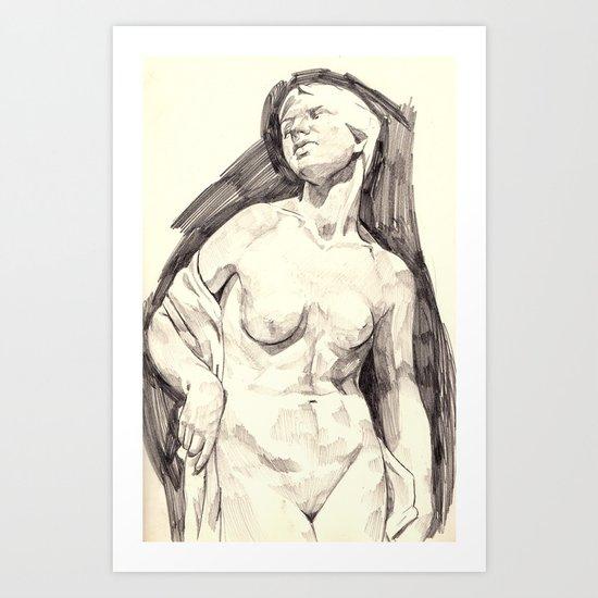 study marble Art Print