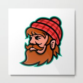 Paul Bunyan Lumberjack Mascot Metal Print