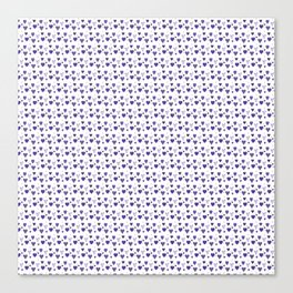 Purple Heart Pattern Canvas Print