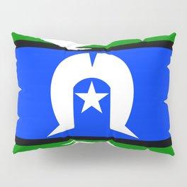 Torres Strait Islander Flag Border Grunge Pillow Sham