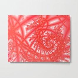 Venetian Lace In Reds Metal Print