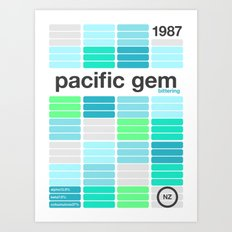 pacific gem single hop Art Print