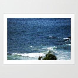 Ocean and palms Art Print
