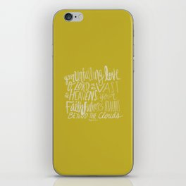 Psalm 36: 5 x Mustard iPhone Skin