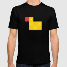 Pixel by pixel – Rubber duck MEDIUM Mens Fitted Tee Black