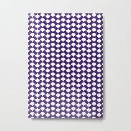 Purple Petals Pattern Metal Print
